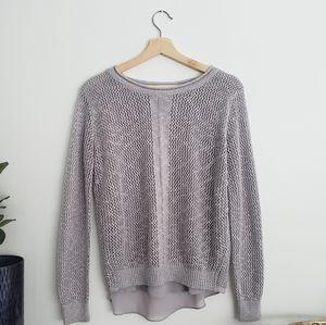 Dahlya Knit Split Back Long Sleeve